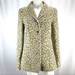 J. McLaughlin Sz 6 Leopard Print Jacket Blazer